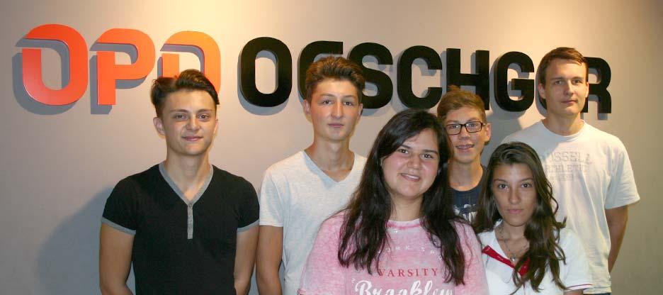 Lernende bei der OPO Oeschger AG