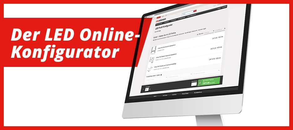 LED Online-Konfigurator mit 6 neuen Profilen und 4 neuen LED-Bändern