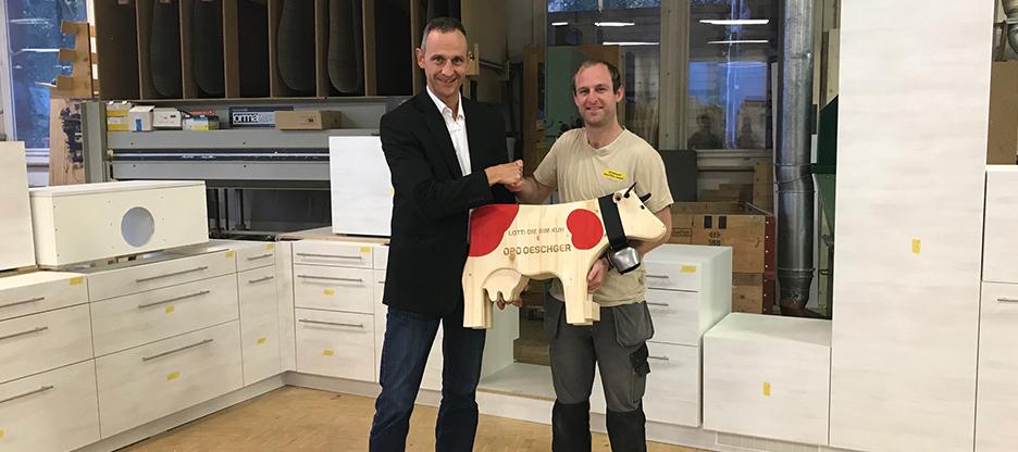 Gewinner XXL-Trauffer-Holzkuh