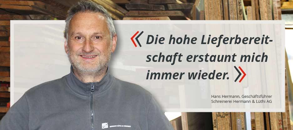 OPO-Kunden im Mittelpunkt: Schreinerei Hermann & Lüthi AG