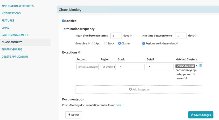 Configuring Chaos Monkey for an Application