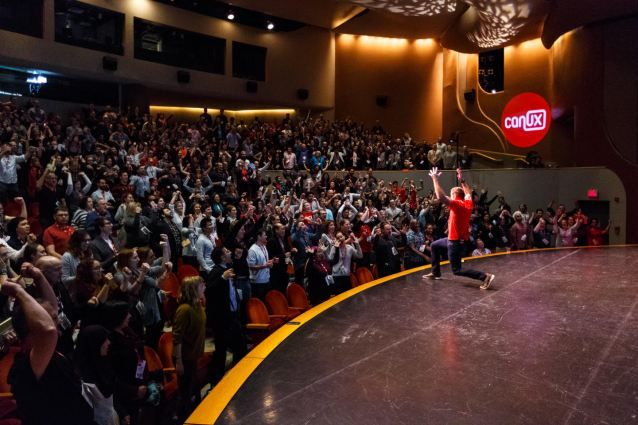 The crowd at CanUX had a fair few chances to interact with speakers onstage.