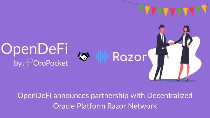 OpenDeFi announces partnership with Decentralized Oracle Platform Razor Network