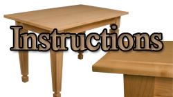 Assembling Table Kits Instructions