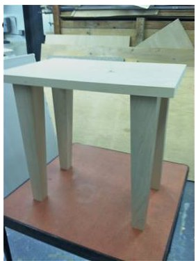 Four Sided Tapered Dining Table Leg