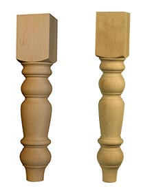 Country Bench Leg and Husky Dining Table Leg