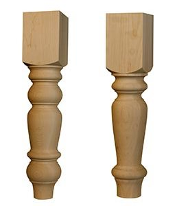 Jumbo English Country Coffee Table Leg and Husky Dining Table Leg
