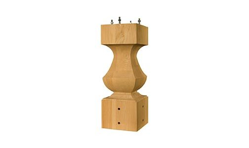 Transitional Table Pedestal