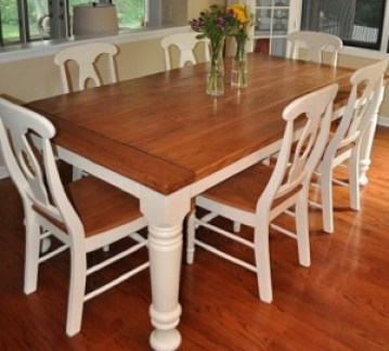 Transitional Country Dining Table Leg, Colonial Coffee Table Leg, Massive Farm Dining Table Leg