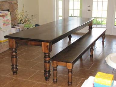 Husky Dining Table Leg and Jumbo English Coffee Table Leg