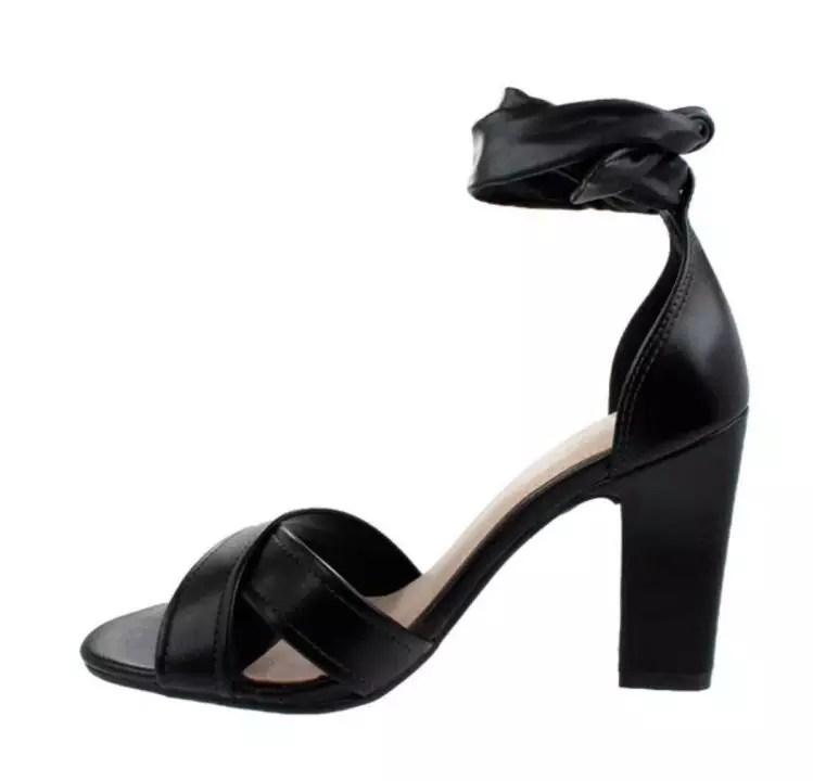 Sandália Preta Orçar Calçados