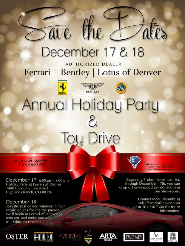 Ferrari of Denver Annual Holiday Party and Toy Drive