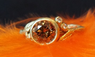 Sofia Kaman Cognac Diamond Twig Ring | Oster Jewelers #mybridalstyle #mydiamondstyle
