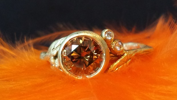 Sofia Kaman Cognac Diamond Twig Ring | Oster Jewelers