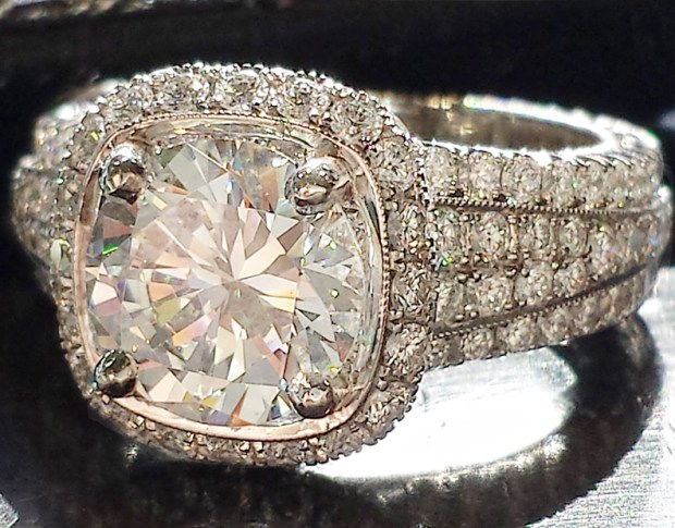Jack Kelege Pave Semi Mount Diamond Ring