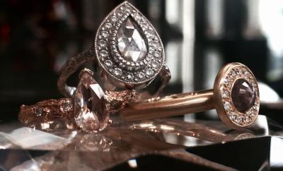 Katy Brunini's Rose Cut Diamond Rings from Oster Jewelers #mybridalstyle #mydiamondstyle