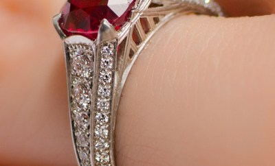 Spinel & Diamond Ring #mybridalstyle #mydiamondstyle