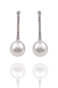 Oster Pearls South Sea Pearl and Diamond Earrings | Oster Jewelers