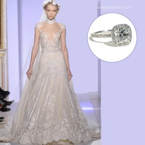 Wedding Wednesday with a Cushion Cut Diamond Ring | Oster Jewelers Blog