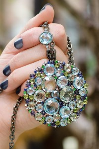 """A & Furst 36"""" Long Blackened Bouquet Necklace 