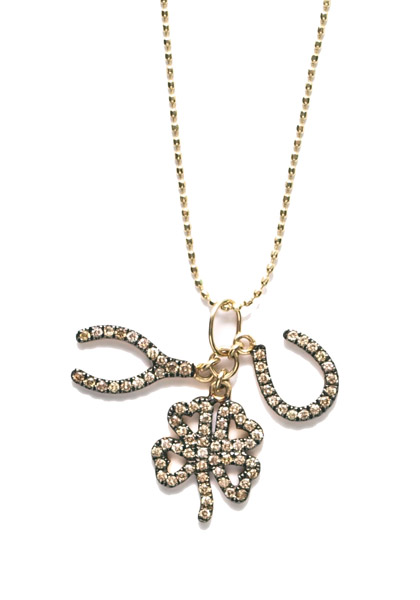Sydney Evan Diamond Lucky Trio Charm Necklace | Oster Jewelers Blog