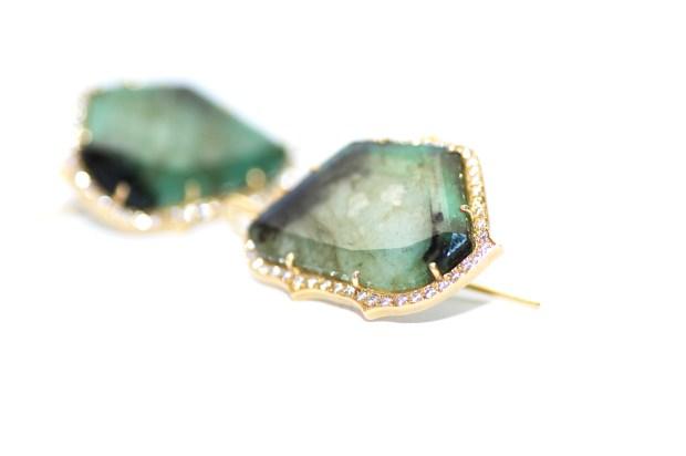 Sylva & Cie Emerald Earrings