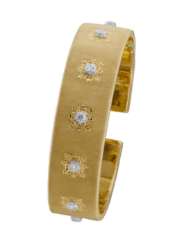 Buccellati Diamond & Yellow Gold Bangle