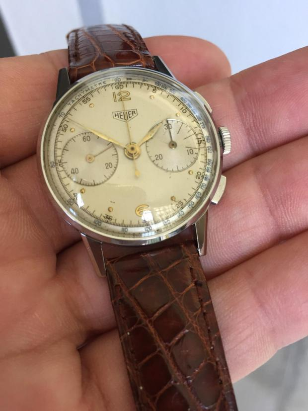 Vintage Heuer Chronograph from the collection of Eric Singer