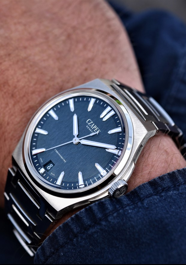 CZAPEK & CIE Antarctique in with Blue Dial Oster Jewelers