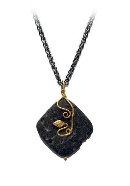 Lika Behar Lava Snake Necklace