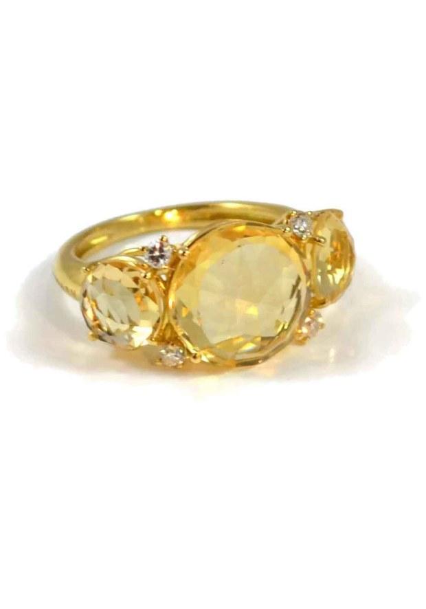 05 A Furst Citrine Lillies Ring