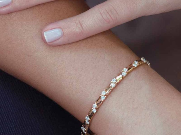Garavelli - 18KRG Slim Diamond Bangle