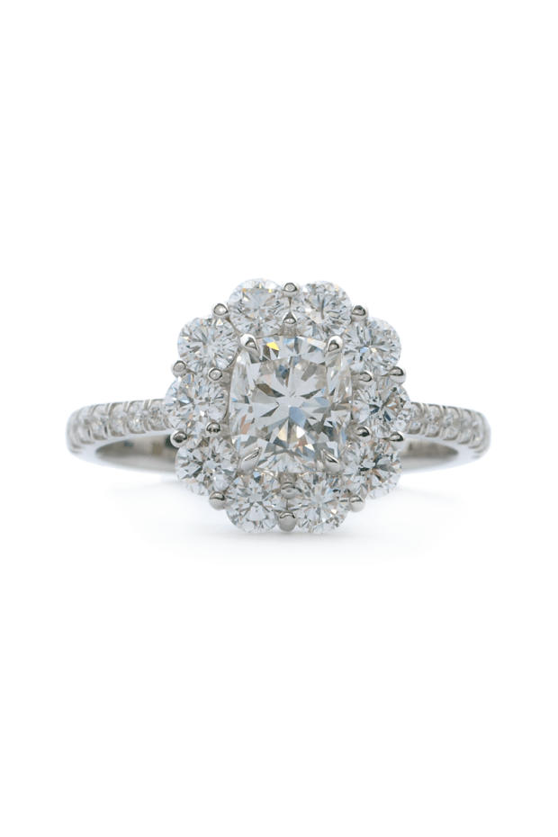Rahaminov Cushion Cut DIamond Ring