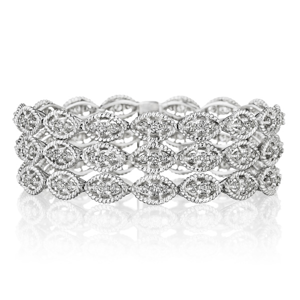 Hammerman Triple Row Diamond Bracelet