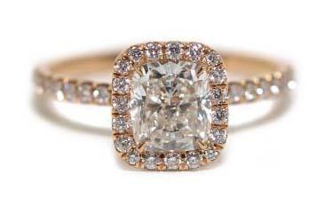Rahaminov 18krg Pave Diamond Cushion Cut Ring
