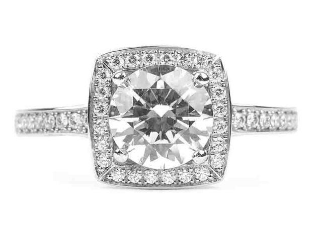 Furrer Jacot - Lucienne Diamond Halo Semi-Mount Ring