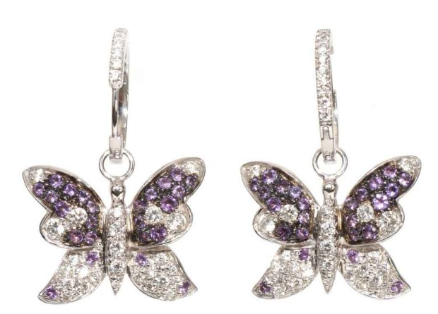 Adolfo Butterfly Earrings