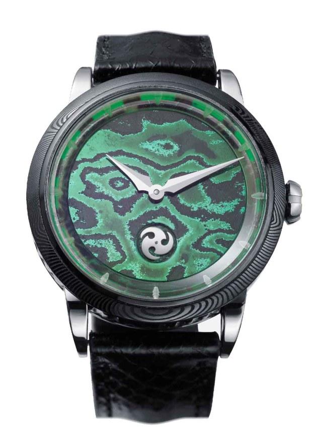 GoS Norrsken Damascus Green Dial