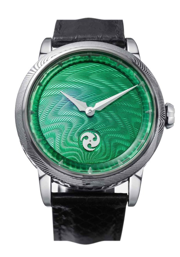 GoS Norrsken Guilloche Green Dial