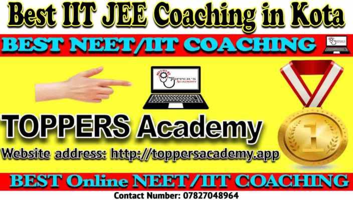 Best IIT JEE Coaching in Kota