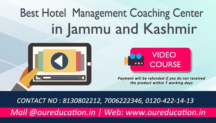Best Hotel Management Coaching Center in Jammu and Kashmir