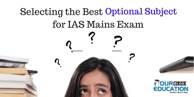 Good Optional subject for IAS Main Exam