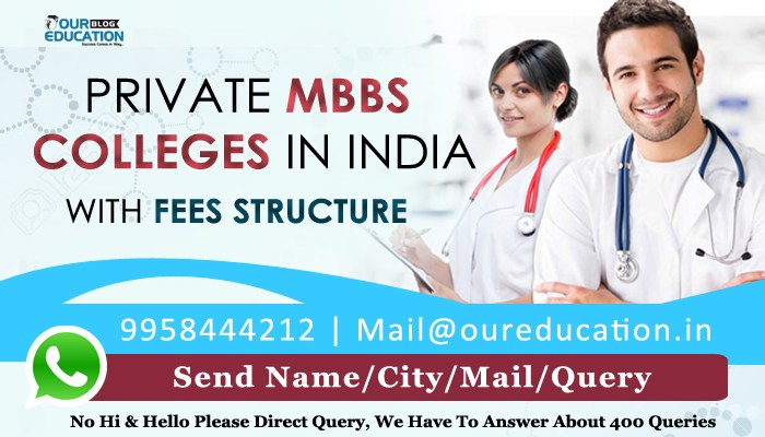 Private MBBS colleges in India with fees structure