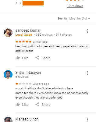 Sahil Study Circle Coaching Patna Reviews