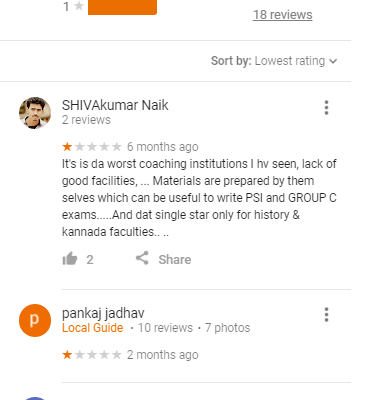 Spardha Mithra Coaching Centre Bangalore Google Reviews