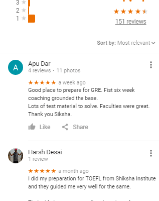 SHIKSHA GMAT AHMADABAD COACHING REVIEWS