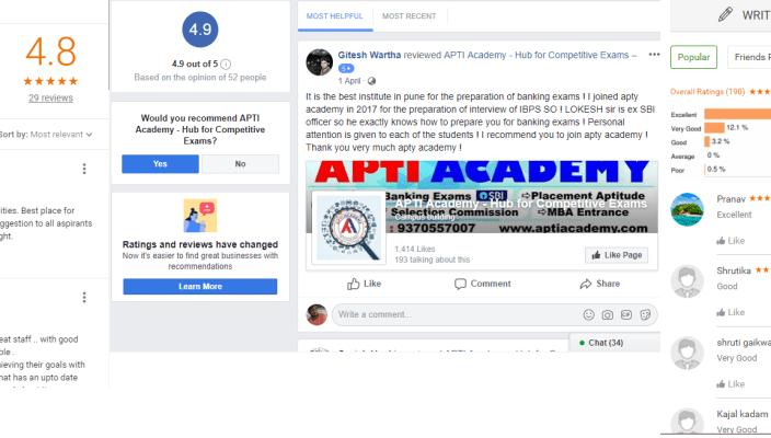 Apti Powers Bank Coaching In Pune Reviews