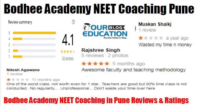 Bodhee Academy NEET Coaching in Pune review