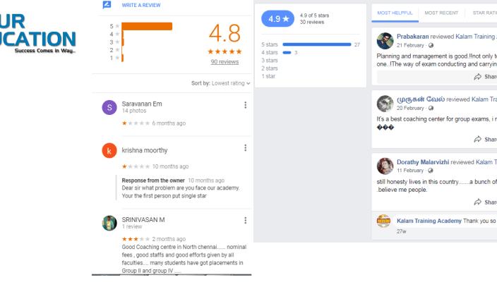 Kalam Training Academy IAS Chennai Reviews