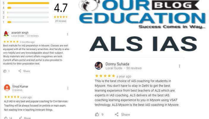 ALS IAS Coaching in Mysore Review